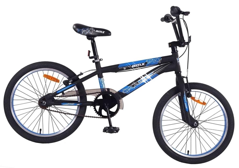 16 Zoll ZW Cycle Freestyle BMX Cross BX, schwarz-blau Preisvergleich