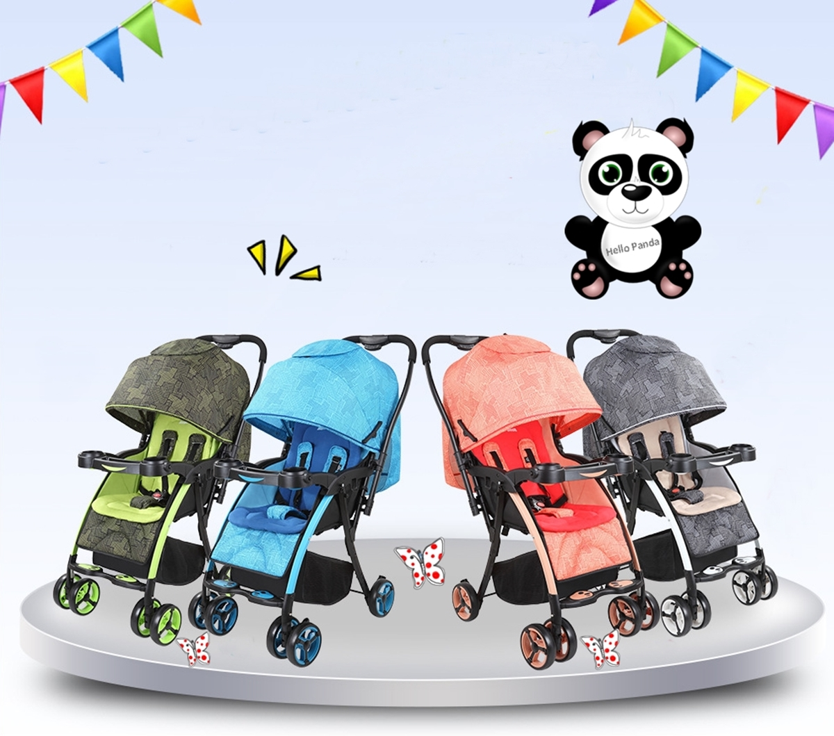 Hello Panda Buggy Kinderwagen 712